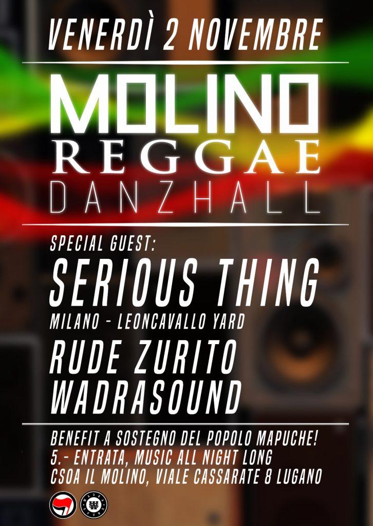 02.11.2018 - Reggae Dancehall - Serious Thing // Zurito // WadraSound 1