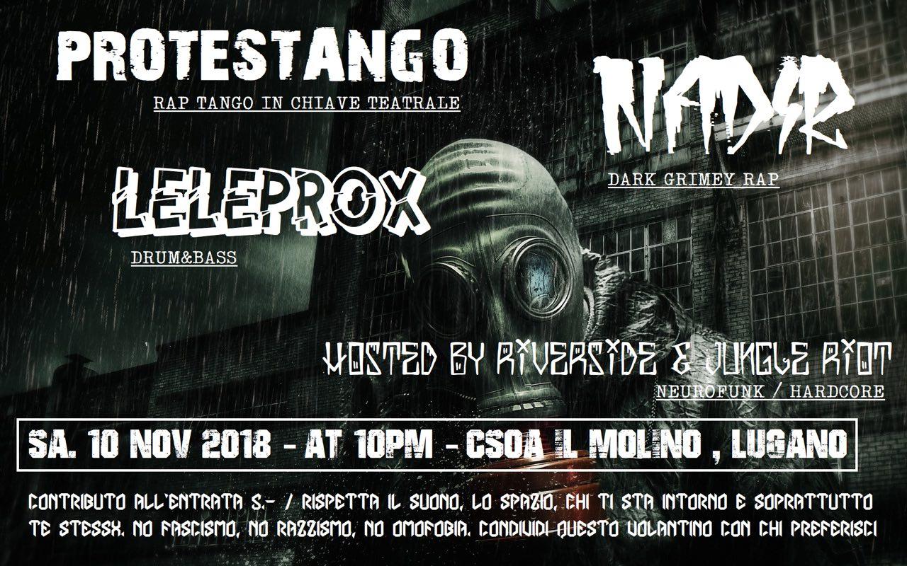 10.11.2018 - Leleprox, Protestango, Nadir - Jungle Riot & Riverside 2