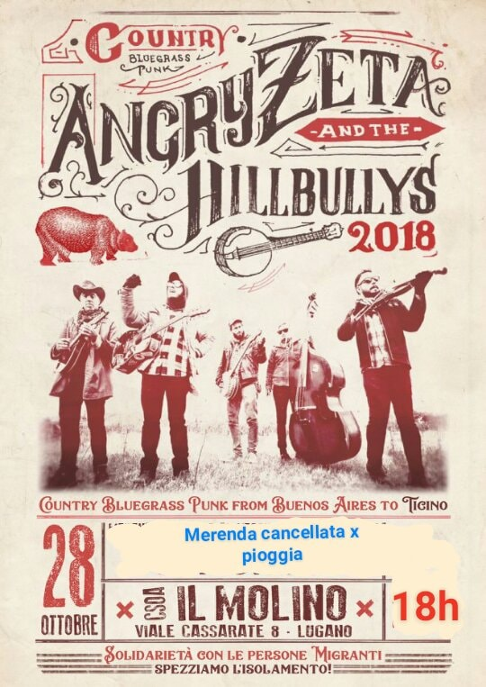 28.10.2018 - Angry Zeta & The Hillbullys in Solidarietà Migrante 1