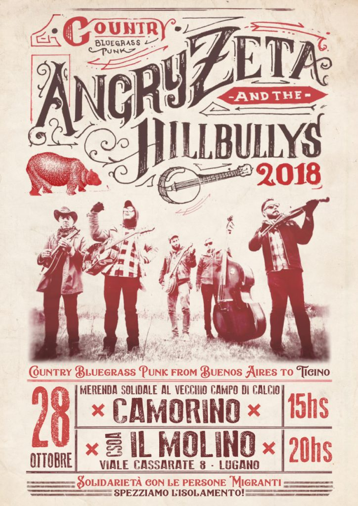 28.10.2018 - Angry Zeta & The Hillbullys in Solidarietà Migrante