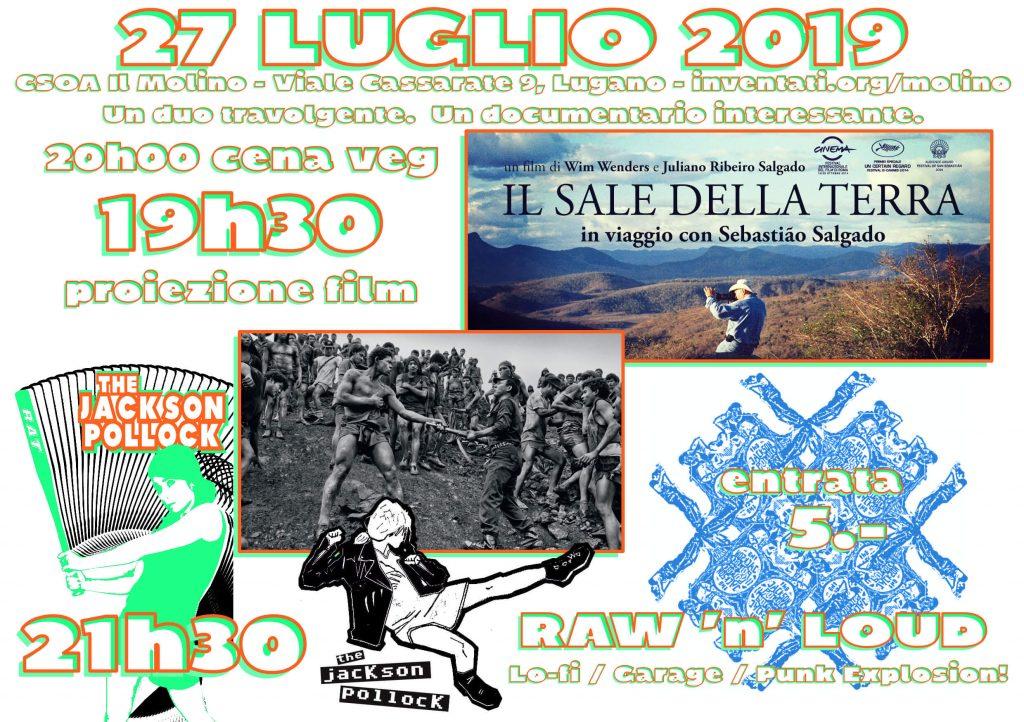 27.07.2019 - The Jackson Pollock (punk) + Il Sale della Terra (docufilm)