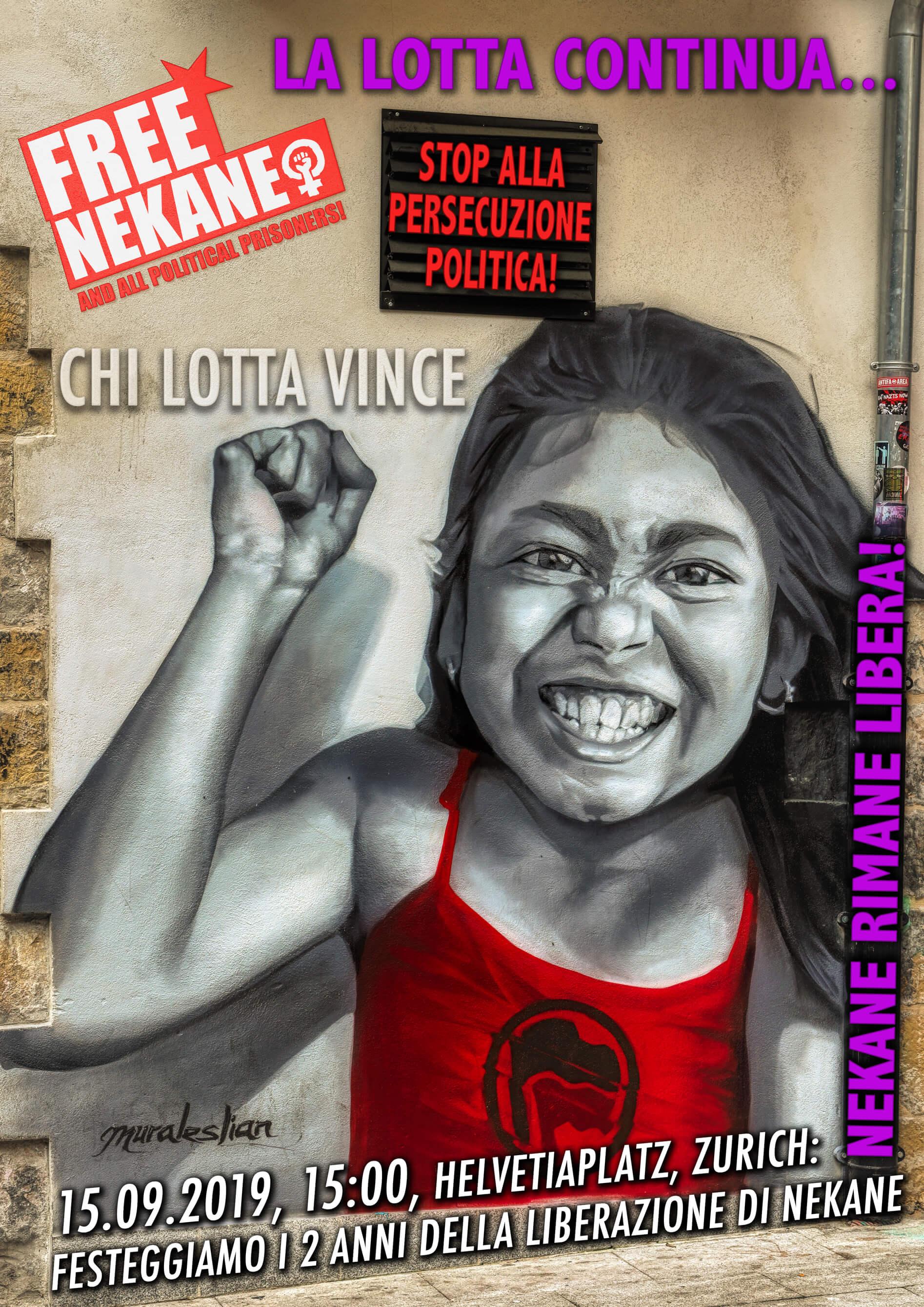 15-09-2019 - Festeggiamo 2 anni della liberazione di Nekane a Zurigo 1