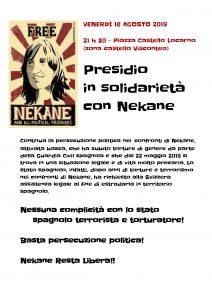 16.08.2019 - Presidio in solidarietà con Nekane @ Locarno