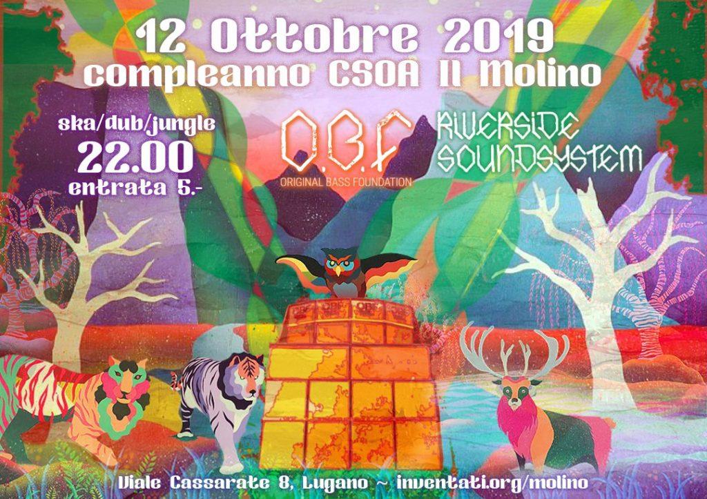 12.10.2019 - 23° Compleanno CSOA il Molino - OBF + Riverside