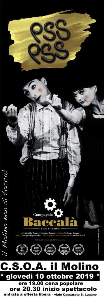 """10.10.2019 - """"Pss Pss"""" Spettacolo Teatrale della Compagnia Baccalà - Senza Tempo"""
