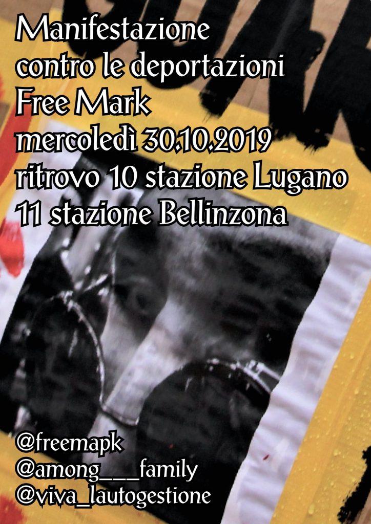 30.10.2019 - Manifestazione contro le Deportazioni - Free Mark!