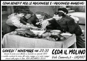 07.11.2019 - Cena Benefit per le prigioniere e prigionieri anarchici