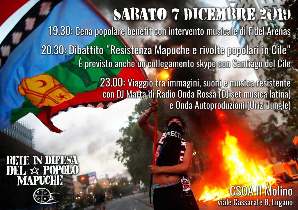 07.12.2019 - Resistenza Mapuche e rivolte popolari in Cile