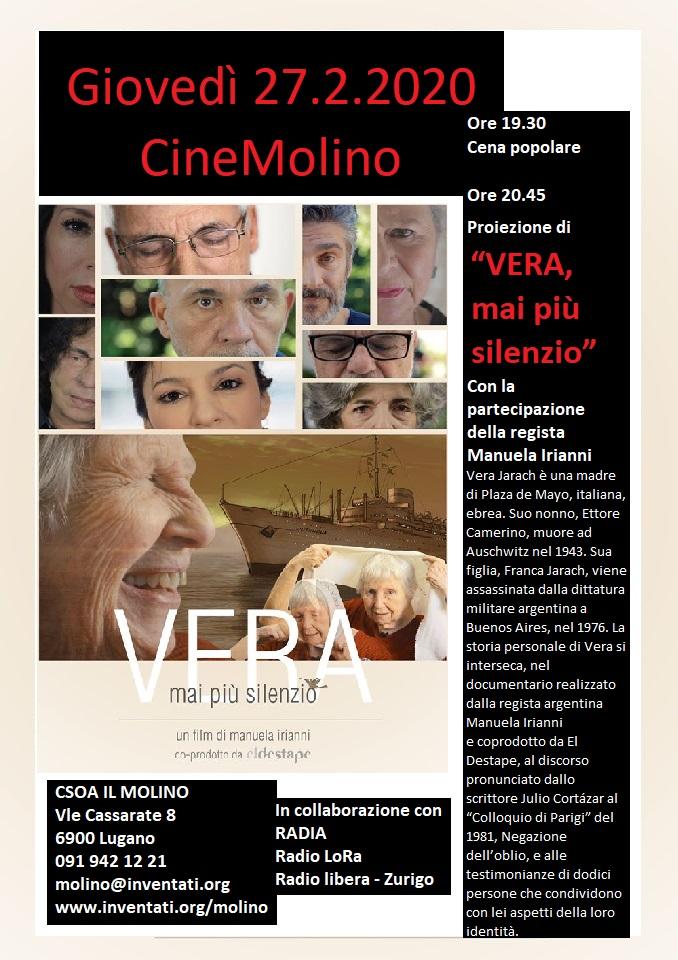 27.02.2020 - CineMolino: Vera, mai più silenzio 1