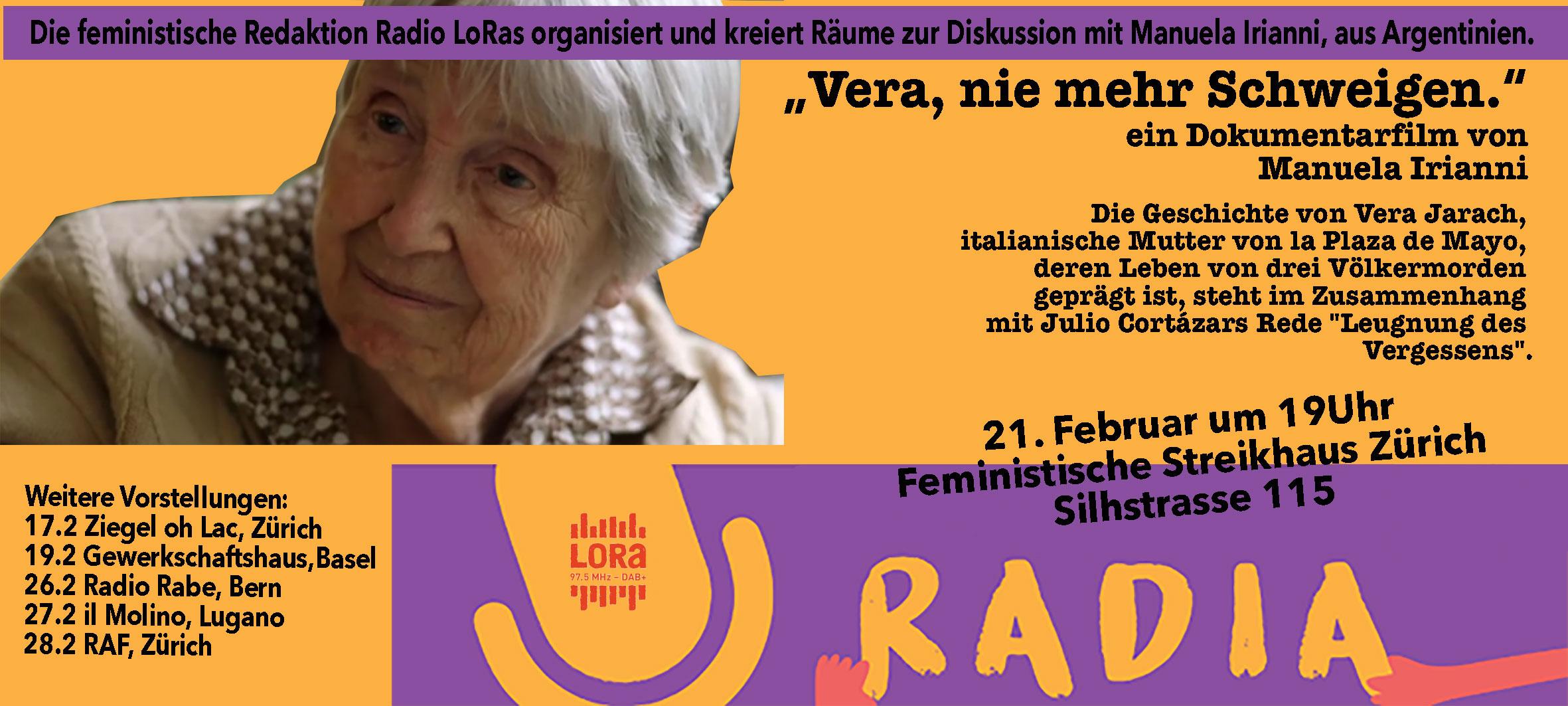 27.02.2020 - CineMolino: Vera, mai più silenzio