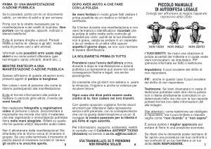 Antirep Ticino – Nuovo piccolo manuale di autodifesa legale (Gennaio 2020)