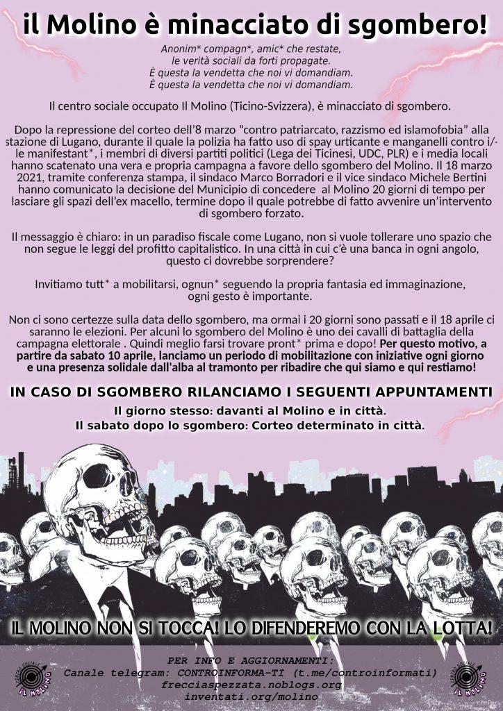 CSOA Molino minacciato di sgombero! 1