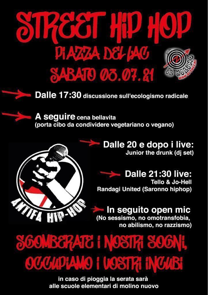 Evento hip hop con concerti live