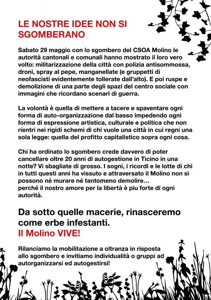 Sabato 5 giugno: corteo a Lugano 1