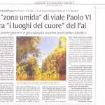 La zona umida di via Paolo VI tra i luoghi del cuore del Fai