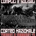 Corteo Nazionale Teramo 9 Febbraio 2013. Complici e solidali.