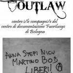 """Opuscolo """"Sull'operazione Outlaw contro i/le compagni/e del centro di documentazione Fuoriluogo di Bologna."""""""