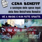 21 aprile - Cena benefit per le spese legali della Rete Antisfratto RomaEst