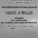 Roma – sabato 30 maggio – Presidio al CIE di Ponte Galeria