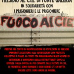 Roma – Sabato 10 ottobre: presidio al C.I.E. di Ponte Galeria in solidarietà con i prigionieri e le prigioniere