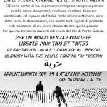Roma – Sabato 7 novembre – Presidio solidale al CIE di Ponte Galeria