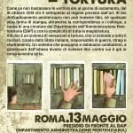 Roma, 13 maggio - Presidio davanti al DAP - 41bis = TORTURA