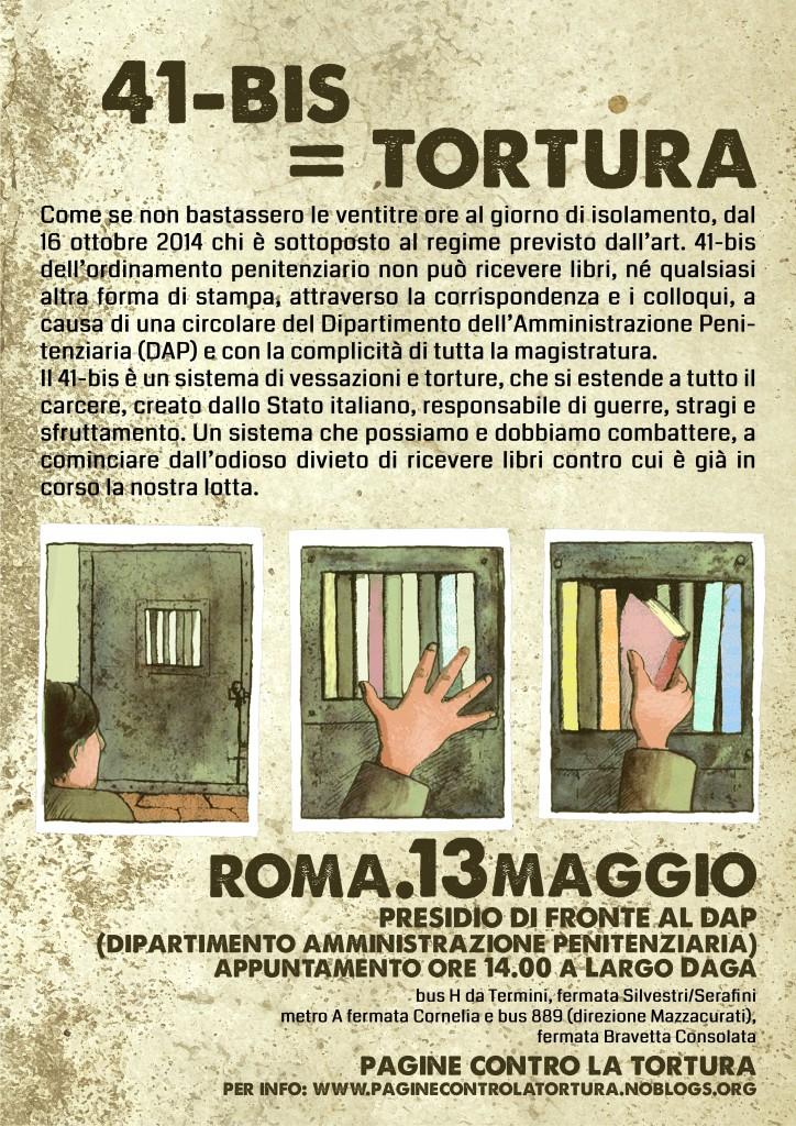 Presidio DAP Roma 13 maggio