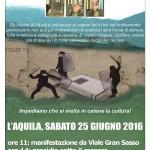 41 BIS = TORTURA - L'Aquila, sabato 25 giugno 2016: manifestazione in città e sotto il carcere
