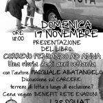 """19 novembre - Presentazione del libro """"Correvo pensando ad Anna"""", discussione e cena benefit @ L38 Squat (Roma)"""