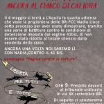 L'AQUILA, 4 MAGGIO 2018: ANCORA AL FIANCO DI CHI LOTTA