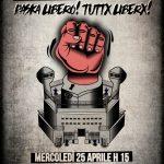 25 aprile - Presidio al carcere di Teramo - Paska libero! Tuttx Liberx!