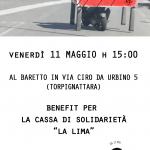 """TORNEO DI BILIARDINO - A sostegno della cassa di solidarietà """"La Lima"""" - Venerdì 11 Maggio - Via Ciro Urbino 5 - Roma"""