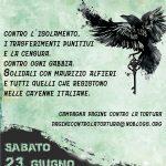 Contro l'isolamento e i trasferimenti punitivi - Sabato 23 giugno presidio davanti al carcere di Carinola