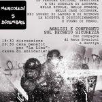 Roma 5/12 - Analisi e confronto sul decreto sicurezza - Cena benefit La Lima @ BAM