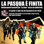 """Roma - """"La pasqua è finita"""": 22 aprile Benefit Cassa di solidarietà La Lima @ BAM"""