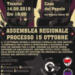 """Teramo 14/9 - Assemblea regionale per il processo """"15 ottobre"""" e benefit cassa di solidarietà """"La Lima"""""""