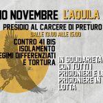 10 novembre L'Aquila - Presidio al carcere