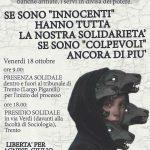 Trento - 18 ottobre giornata solidale con arrestatx nell'operazione Renata