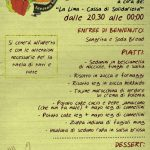 ROMA: Cena benefit cassa di solidarietà La Lima - 24 settembre @STRIKE -