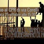 Milano - 25 ottobre presidio al CPR di Via Corelli