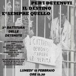 LUNEDI' 15 FEBBRAIO ORE 15.30 - Seconda proposta di battitura delle detenute di Trieste