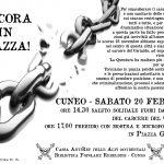CUNEO - Sabato 20 Febbraio - ANCORA IN PIAZZA!